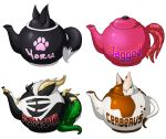 Teapot Badges - Set 2 by lizardbeth