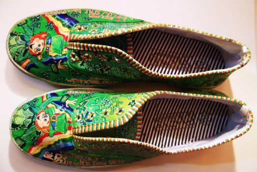 st patrick's day inspired shoes by Zvalosch