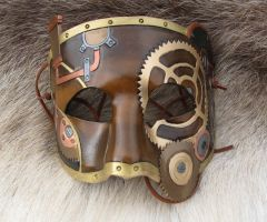 Leather Steampunk Mask - Variation by SonsOfPlunderLeather