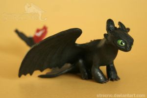 Toothless Sculpture SOLD! by Strecno