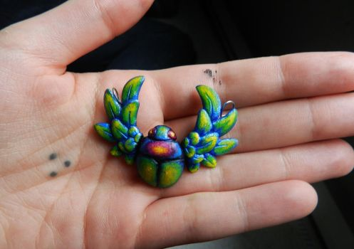 Scarab Beetle Pendant by PoisonJARCreations