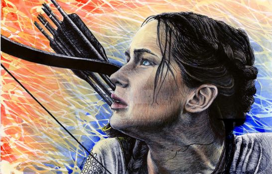 Katniss Everdeen by skepticmeek