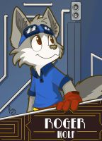Roger Wolf Badge by pandapaco
