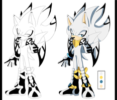 Raziel the Angelical Hedgehog Ref by kiuki-10
