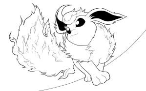 Flareon. :Lineart: by moxie2D