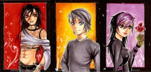 ACEO set 1 by SimonneX
