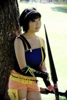 Yuffie in Contemplation by atlantisan