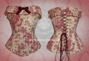 Cherubs overbust corset by Alice-Corsets