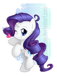 Chibi Rarity by secret-pony