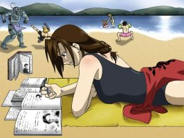 Even at the Beach... by Kayla-Chan