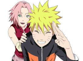 Naruto and Sakura by manzr