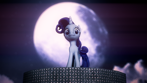 Rarity And The Moon by MovieMowDown