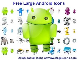 Free Large Android Icons by Ikonod