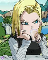 Android 18 again by bbslugger