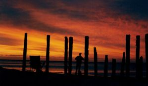 Man at Sunset by chilichick