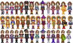 Yuna, Rikku, Paine Sprites by Kayari-of-Midnight