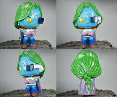 Zarbon Funko Pop Vinyl Custom DBZ Figure Angles by PrinceZarbon