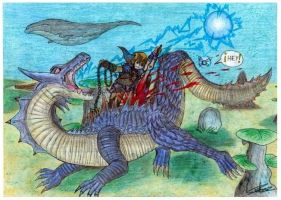 Link VS Lagiacrus by raptorthekiller
