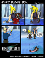 FF7 - Stupid Blonde Boy. by Fonzu