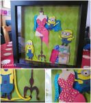 Fashion Minions Papercraft by thesearejessicakes