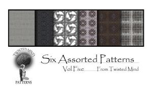 Twisted Mind Six Assorted Patterns Vol five by Textures-and-More