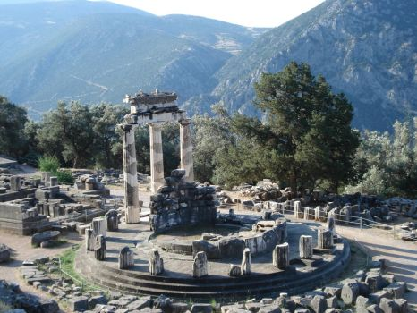 Delphi's temple of Athena by avril72381