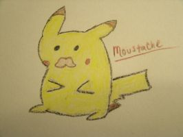 Pika Stache by xXJustBelieveInMeXx