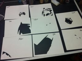 Batman and Aztek ITW by Stencils-by-Chase