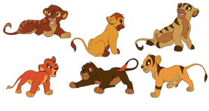 ADOPTABLE Pumba/Timon Crack Pair Lion Cubs CLOSED by Kyoushi