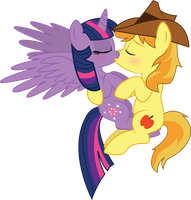 Meadowbreeze Commission: Twilight and Braeburn by benybing