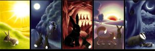 Watership Down: pentaptych by Crooty