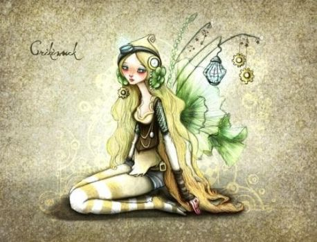 Long hair tinkerbell by crisquinu