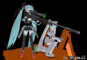Ciber Miku and Fireball Attack by Wirm22