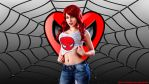 Mary Jane Watson cosplay wp with Negative Stacey by SWFan1977