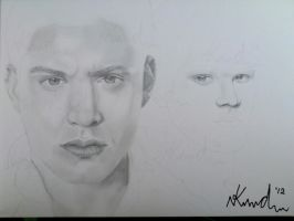 Dean and Sam Winchester by CelticCry