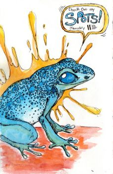 Daily Drawing: Frog by MederMade