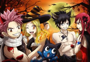 Fairy Tail Halloween by Niramuchu