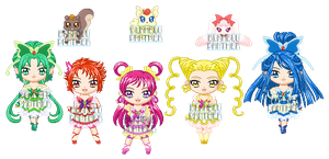 ChibiP: Yes! Pretty Cure 5 by blknblupanther