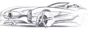 Mercedes Benz Sketch by dyrborgdesign