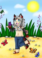 Surrounded By Butterflies by draizor007