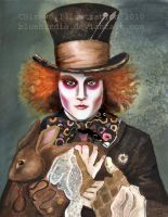 The Mad Hatter Watercolor by BlueBirdie
