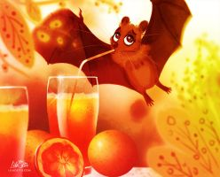 Fruit Bat by LilaCattis