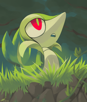 Day26 [STARTER] Snivy by Rock-Bomber