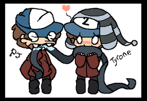 Tyrone and Paper Jam Dipper by Averylilith
