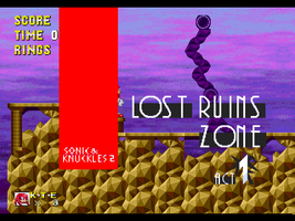 SK2 - Lost Ruins Zone Act 1 w/title card by OMGWEEGEE2