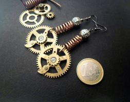 Steampunk Earrings - Conduit by bleek70