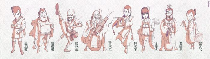 8 Immortals by Xennethy