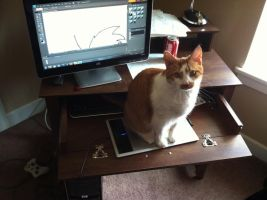 I'm Helping You Draw, Dad! by MoodyShooter