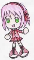 Human Sonic Chibi - Amy Rose by EmmytheCat
