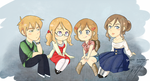 Chibi FACE family by gohe1090